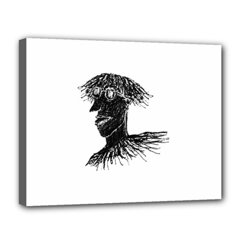 Cool Young Long Hair Man With Glasses Canvas 14  x 11