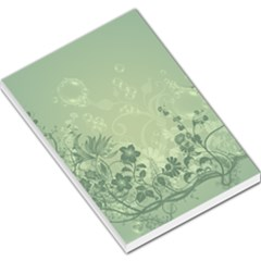Wonderful Flowers In Soft Green Colors Large Memo Pads