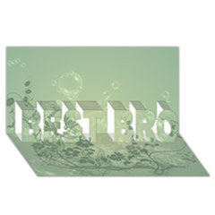 Wonderful Flowers In Soft Green Colors Best Bro 3d Greeting Card (8x4)