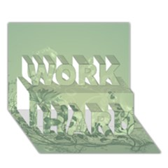 Wonderful Flowers In Soft Green Colors Work Hard 3d Greeting Card (7x5)