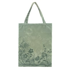 Wonderful Flowers In Soft Green Colors Classic Tote Bags