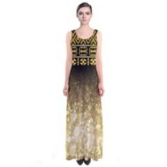 Tribal Full Print Maxi Dress
