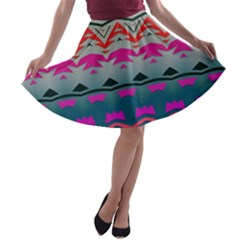 Waves And Other Shapes A Line Skater Skirt