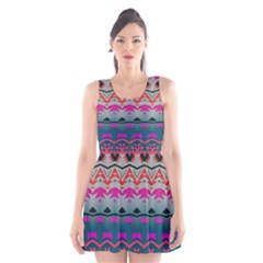 Waves and other shapes Scoop Neck Skater Dress