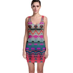 Waves and other shapes Bodycon Dress