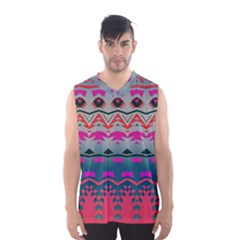Waves and other shapes Men s Basketball Tank Top