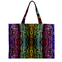 Abstract, Yellow Green, Purple, Tree Trunk Zipper Tiny Tote Bags