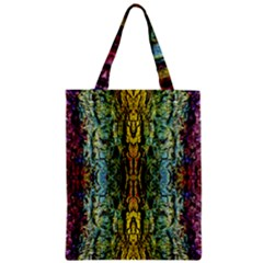 Abstract, Yellow Green, Purple, Tree Trunk Zipper Classic Tote Bags