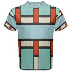 Vertical and horizontal rectangles Men s Cotton Tee
