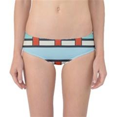 Vertical and horizontal rectangles Classic Bikini Bottoms