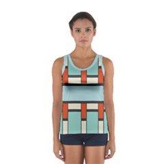Vertical and horizontal rectangles Women s Sport Tank Top