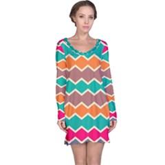 Colorful chevrons pattern nightdress