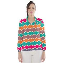 Colorful chevrons pattern Wind Breaker (Women)