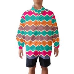 Colorful Chevrons Pattern Wind Breaker (kids)