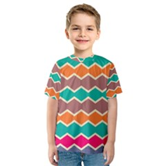 Colorful chevrons pattern Kid s Sport Mesh Tee