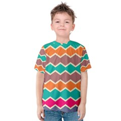 Colorful Chevrons Pattern Kid s Cotton Tee