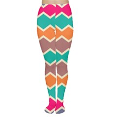 Colorful chevrons pattern Tights