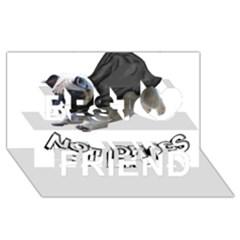 Do Pugs Best Friends 3d Greeting Card (8x4)
