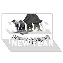 Do Pugs Happy New Year 3D Greeting Card (8x4)