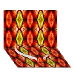 Melons Pattern Abstract Heart Bottom 3D Greeting Card (7x5)
