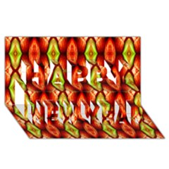 Melons Pattern Abstract Happy New Year 3d Greeting Card (8x4)