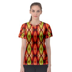 Melons Pattern Abstract Women s Sport Mesh Tees