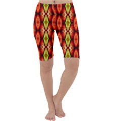 Melons Pattern Abstract Cropped Leggings