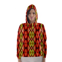 Melons Pattern Abstract Hooded Wind Breaker (women)