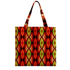 Melons Pattern Abstract Zipper Grocery Tote Bags