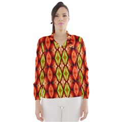 Melons Pattern Abstract Wind Breaker (Women)
