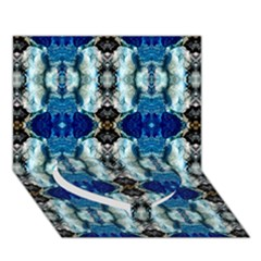 Royal Blue Abstract Pattern Heart Bottom 3d Greeting Card (7x5)