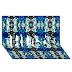 Royal Blue Abstract Pattern Hugs 3d Greeting Card (8x4)