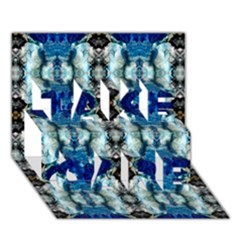 Royal Blue Abstract Pattern Take Care 3d Greeting Card (7x5)