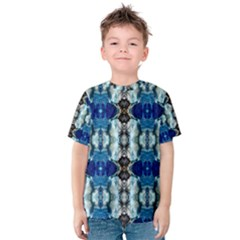 Royal Blue Abstract Pattern Kid s Cotton Tee