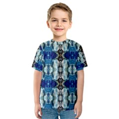 Royal Blue Abstract Pattern Kid s Sport Mesh Tees