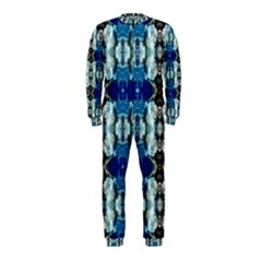 Royal Blue Abstract Pattern OnePiece Jumpsuit (Kids)