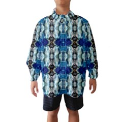 Royal Blue Abstract Pattern Wind Breaker (kids)