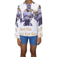 Lasereyesfinal5 Kid s Long Sleeve Swimwear