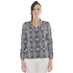 Black White Diamond Pattern Wind Breaker (Women)