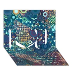 Blue Bubbles I Love You 3d Greeting Card (7x5)