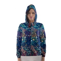 Blue Bubbles Hooded Wind Breaker (Women)