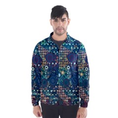 Blue Bubbles Wind Breaker (men)