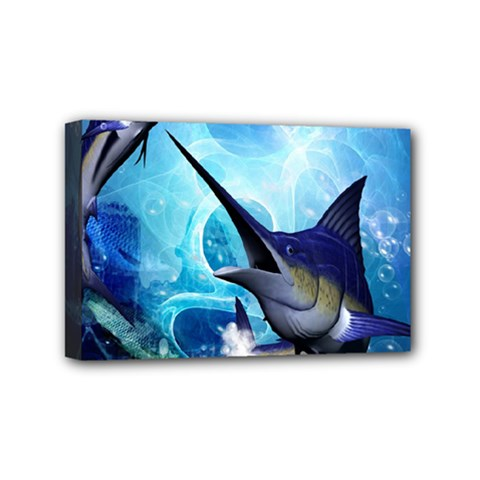 Awersome Marlin In A Fantasy Underwater World Mini Canvas 6  x 4
