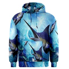 Awersome Marlin In A Fantasy Underwater World Men s Pullover Hoodies