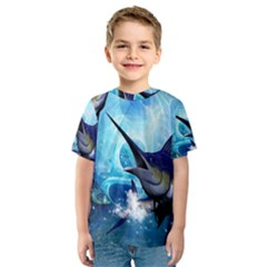 Awersome Marlin In A Fantasy Underwater World Kid s Sport Mesh Tees