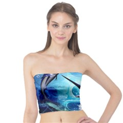 Awersome Marlin In A Fantasy Underwater World Women s Tube Tops