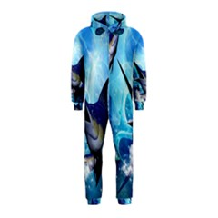 Awersome Marlin In A Fantasy Underwater World Hooded Jumpsuit (Kids)
