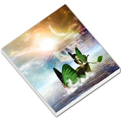 Cute Fairy In A Butterflies Boat In The Night Small Memo Pads