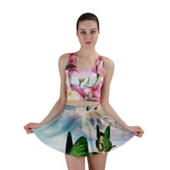 Cute Fairy In A Butterflies Boat In The Night Mini Skirts