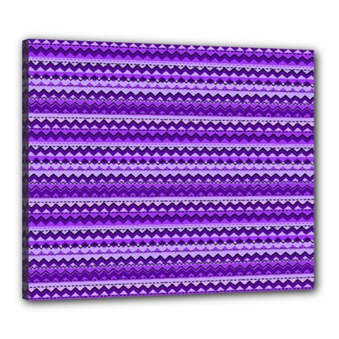 Purple Tribal Pattern Canvas 24  x 20